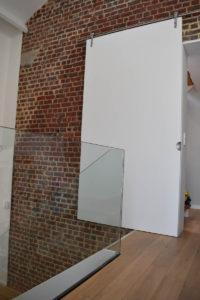 Glazen trapwand en balustrade