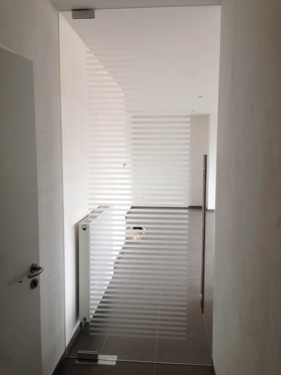 Glazen binnendeur