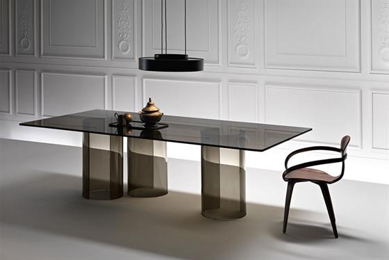 Glazen bureau