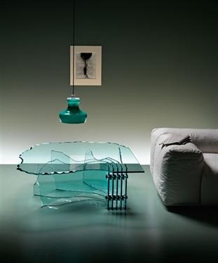 Glazen bijzettafel