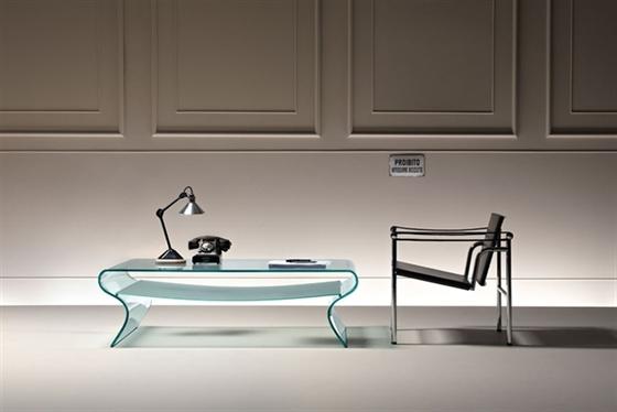 Glazen salontafel