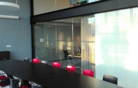 Glazen wand kantoor