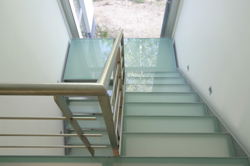Glazen trap - loopglas