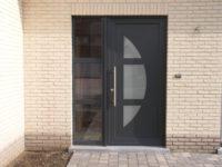 Voordeur nieuwbouw met glas