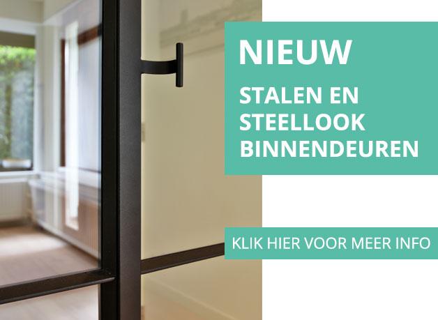 Glassdesign: info stalen en steellook binnendeuren