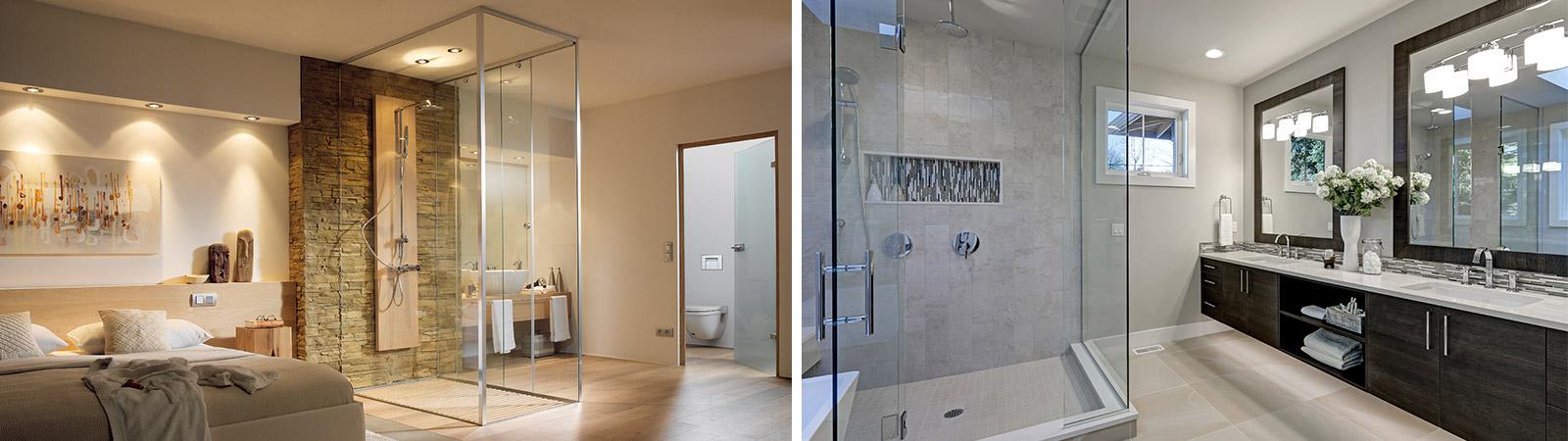 Glazen douchesystemen