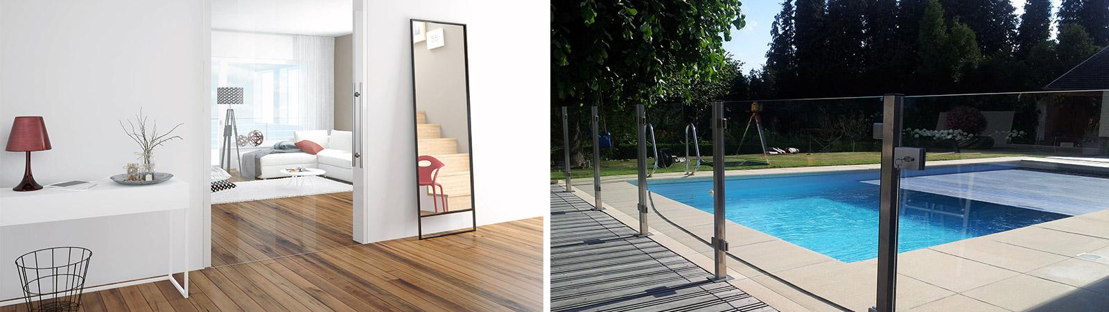 Glazen deur / Glazen balustrade